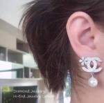 Chanel Earring งานต่างหูชาแนลประดับมุก