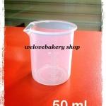 บีกเกอร์พลาสติก อย่างดี ขนาด 50 มิลลิลิตร (ทน 120 ํc)