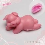 พิมพ์ยางซิลิโคน 3D ลายหมูนอน
