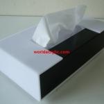 กล่องทิชชู่อคริลิค แบบ 2 สี