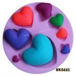 พิมพ์ยางซิลิโคน 3D ลายหัวใจ หลายขนาด