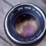 CANON FD LENS 50MM. F1.4 SILVER NOSE