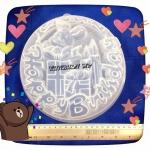 พิมพ์วุ้นปอนด์ ลาย Happy birthday กล่องของขวัญ >_< 20 cm