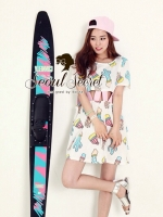 Lovely Korea Colorful Cactus Dress