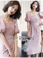 Kelly Vintage Gingham Cotton Dress
