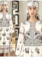 Deana Bohemian Printed & Embroidered White Dress