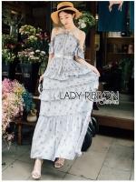Diana Country Rich Girl Ruffle Layered Flower Dress