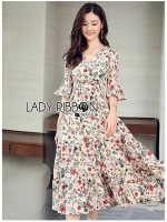 Anna Flower Blossom Printed Layered Country Dress