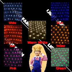 ไฟตาข่าย LED ขนาด 3 x 3 เมตร (ไม่กระพริบ) ไฟประดับตกแต่ง
