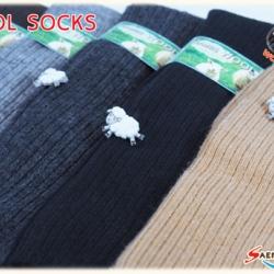 ถุงเท้ากันหนาววูล ขนแกะยาว