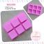 พิมพ์ยางซิลิโคน สี่เหลี่ยมขอบมน 6 ช่อง (ประมาณ 90-100 กรัม) thumbnail 1