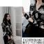 Chic black rose blouse thumbnail 3