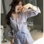Monica Sporty Embroidered Striped Shirt ZARA Playsuit thumbnail 5