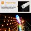 หลอดไฟงานวัด LED (ไฟนิ่งไม่กระพริบ) สีธงชาติ / หลอดไฟ T8 หลอดสี thumbnail 6