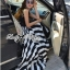 Arianna Glam Chic Swirl Striped Maxi Dress thumbnail 2