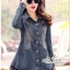 Jeans jacket female spring Korean lace long-sleeved shirt thumbnail 3
