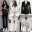 Smart Casual Collar Long Sleeve Jacket Suit With Ribbon Belt thumbnail 1