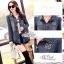 Jeans jacket female spring Korean lace long-sleeved shirt thumbnail 5