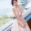 Sarah Pretty Sleeveless Embellished Baby Pink Lace Dress thumbnail 4