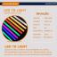 หลอดไฟงานวัด LED (ไฟนิ่งไม่กระพริบ) สีธงชาติ / หลอดไฟ T8 หลอดสี thumbnail 4