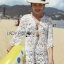 Naomi Beach Summer Style White Crochet Dress thumbnail 3