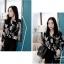 Chic black rose blouse thumbnail 4