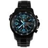 นาฬิกา Seiko Chronograph Solar Watch V172 SSC079 สายสแตนเลสรมดำ