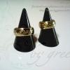แหวนถมทองลายไทยและแหวนนามสกุล หน้ากว้าง 8 mm. งานสั่งทำเป็นคู่ โดยเครื่องถมนคร by green