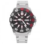 นาฬิกา Seiko 5 Mini Monster Lite Black Bezel Mens Watch SRP487K1