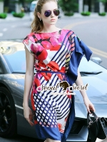 D&G Tropical Bloom Print Dress