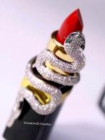 พร้อมส่ง Snake Diamond Ring งานเพชร CZ แท้