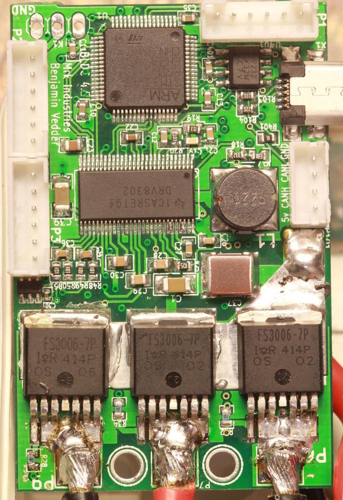 VESC BLDC motor controller PPM signal (RC servo), analog, UART, I2C, USB or  CAN-bus