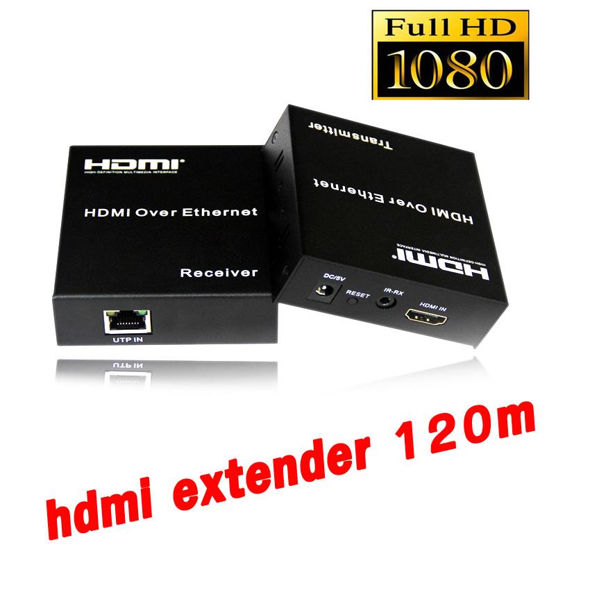 ตัวแปลงสัญญาณ hdmi full hd 120m Extender TCP/IP CAT 5E/6 With IR