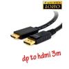 สายแปลง display port to HDMI ยาว 3m มีเสียงด้วย