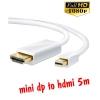 สายแปลง mini display to hdmi 5m มีเสียงด้วย -white