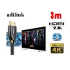 Adilink high speed hdmi cable Full hdmi 3D 4kx2k 2160p 3m
