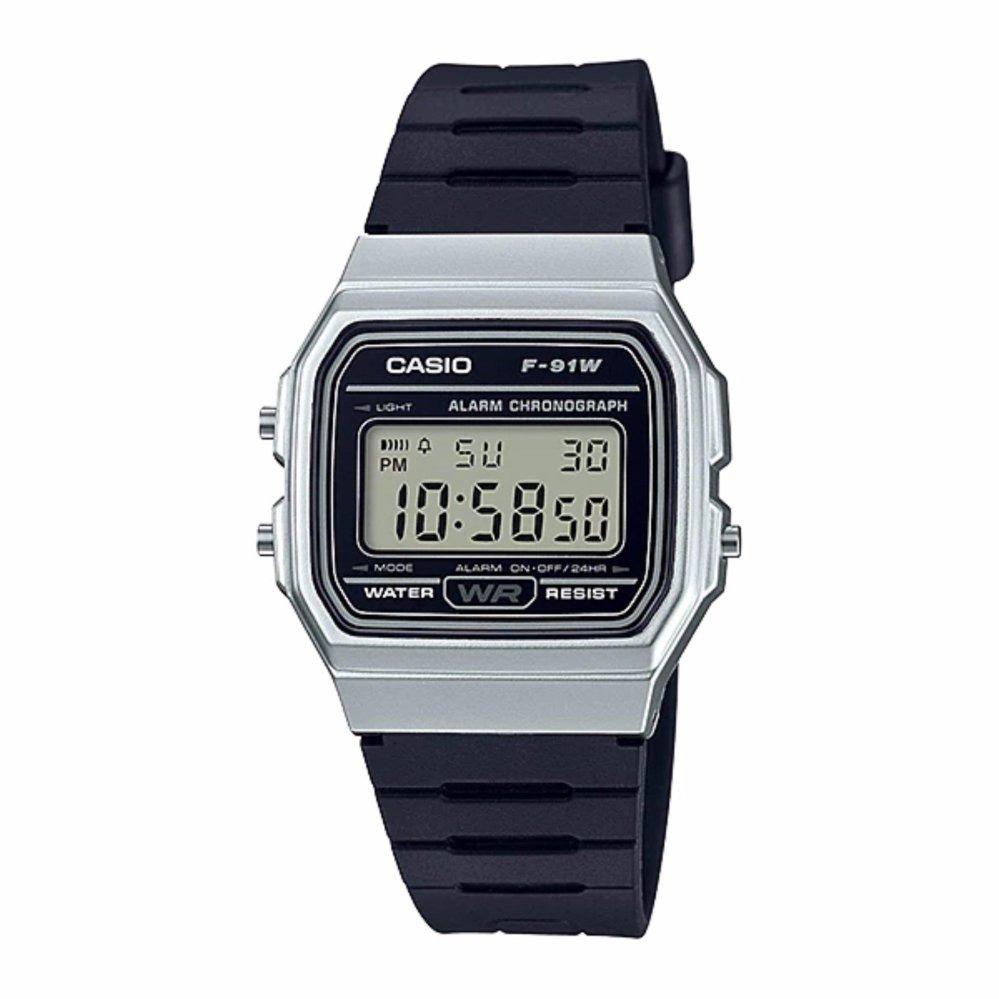 Casio ของแท้ ประกันศูนย์ F-91WM-7ADF CASIO นาฬิกา ราคาถูก ไม่เกิน หนึ่งพัน