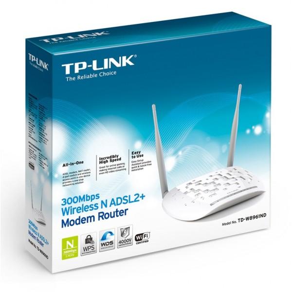 MODEM Rotuer ADSL TP-LINK 300mbps TD-W8961ND