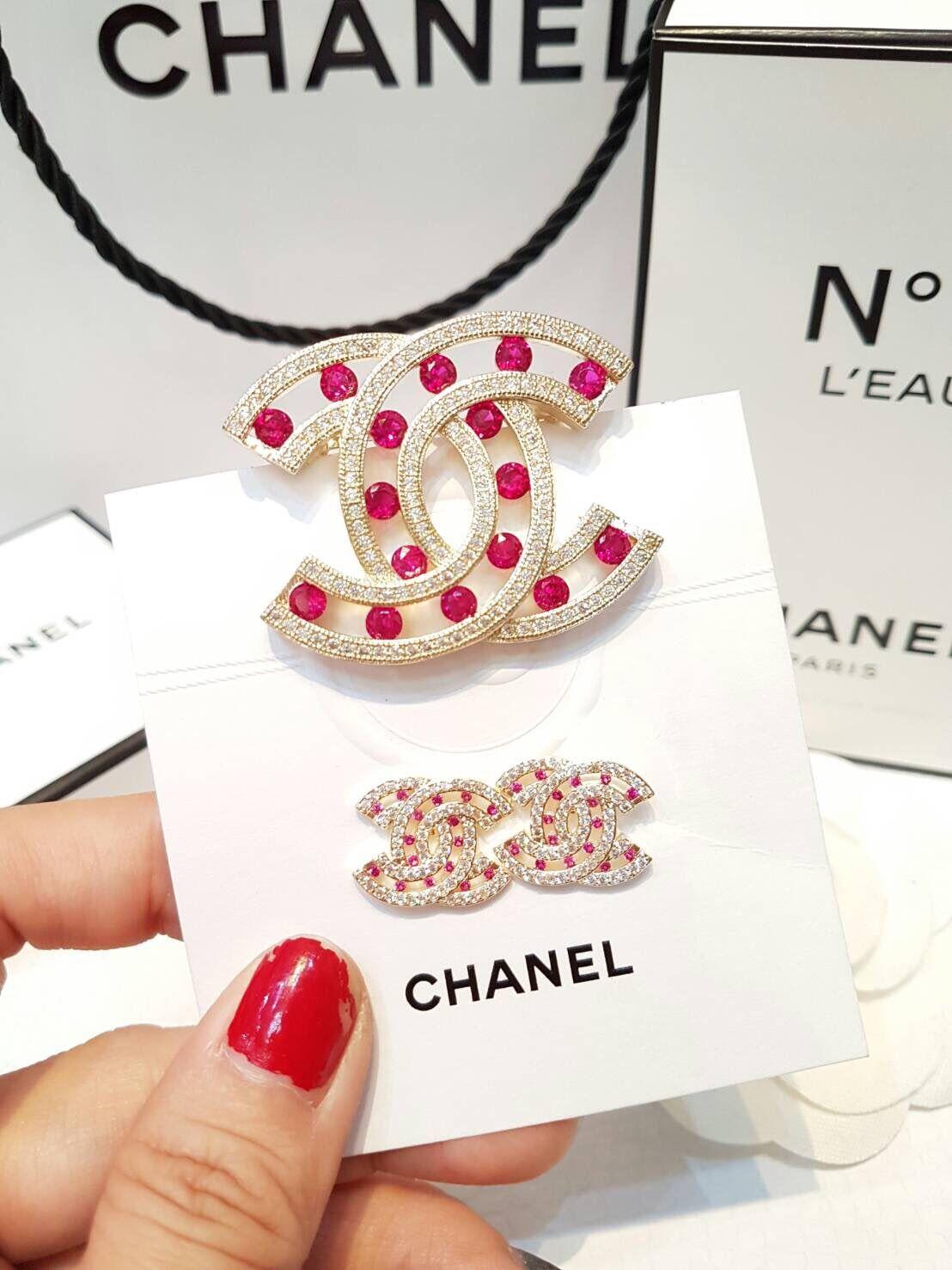 พร้อมส่ง Diamond Chanel Brooch&Earring