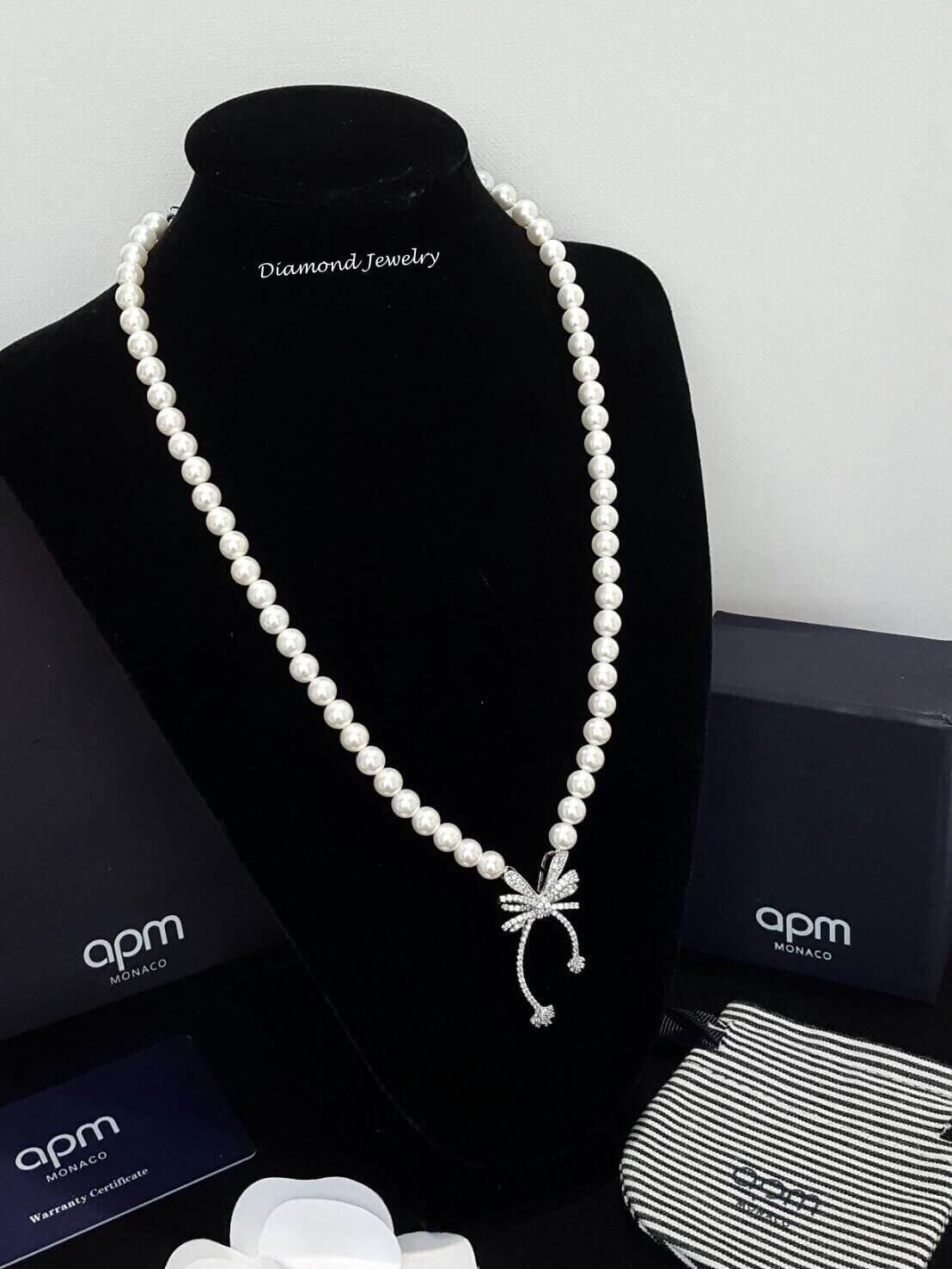 พร้อมส่ง APM Pearl Necklace รุ่นนี้เป็นมุกญี่ปุ่นเกรดดีมาก