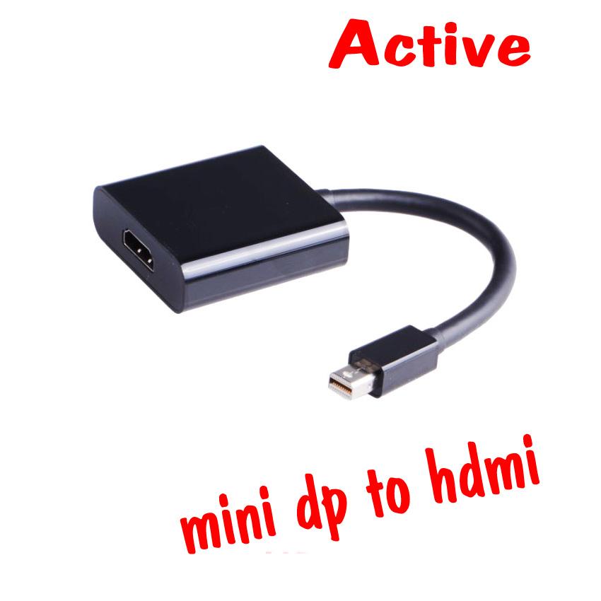 สายแปลงmini Displayport to hdmi แบบ Active ใช้งาน3จอขึ้นไป