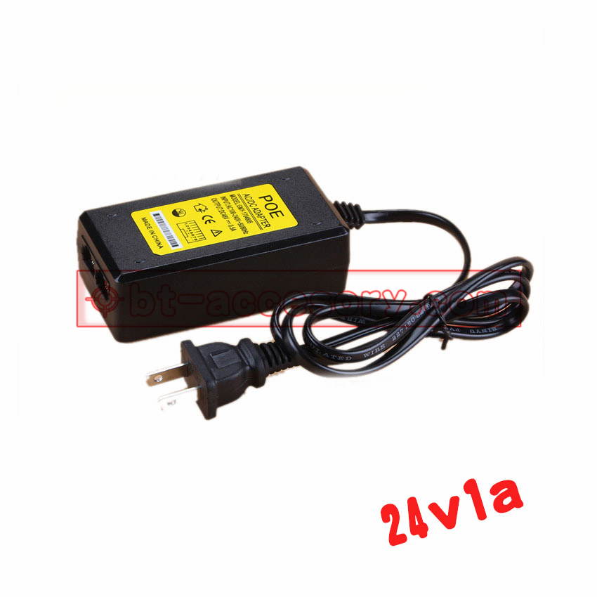 POE network adapter power dc 24v1a 24w