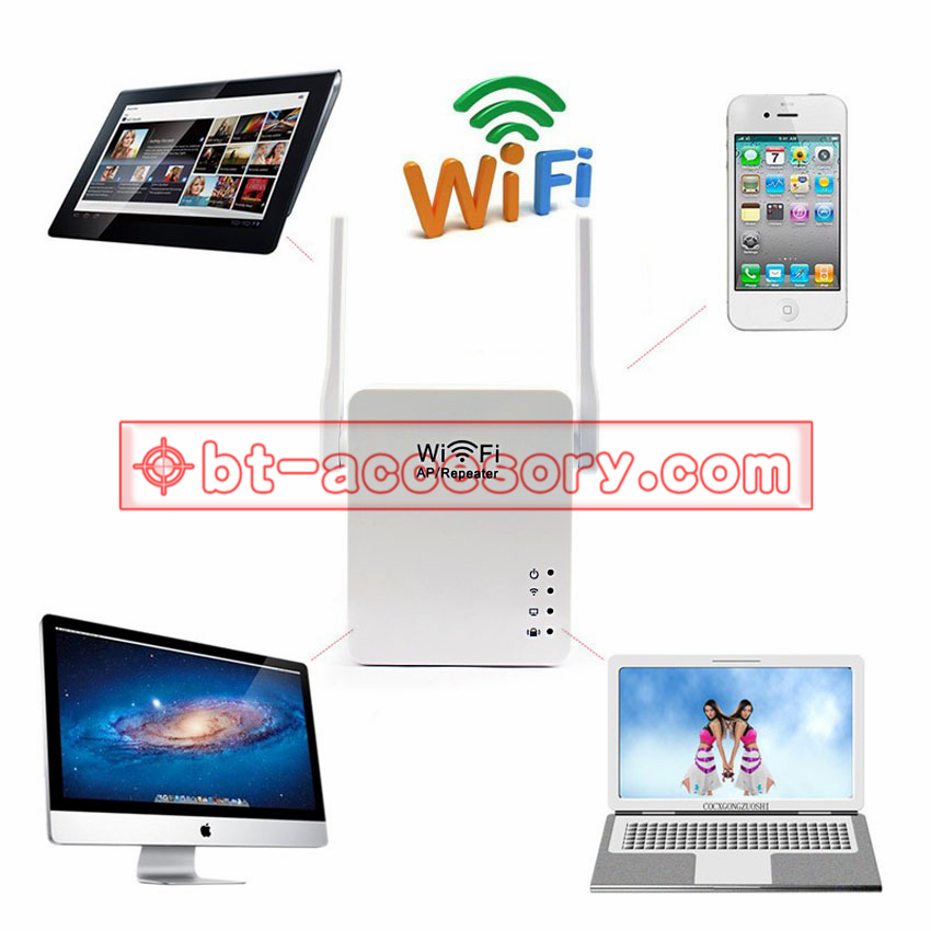 Wifi AP/Repeater 300Mbps 802.11 b/g/n Dual Antenna with usb 5v2a