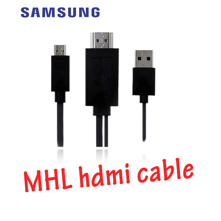 SAMSUNG MHL HDMI CABLE note2/Note3/note8/S4/S3/tablet s 1.8m-black