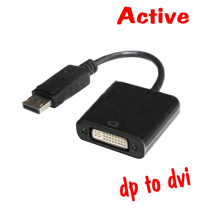 สายแปลง Displayport to DVI แบบ Active ใช้งาน3จอขึ้นไป