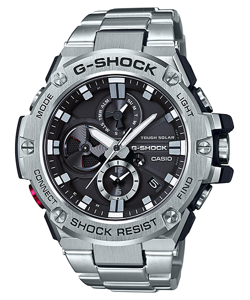 GShock G-Shockของแท้ ประกันศูนย์ G-STEEL TOUGHSOLAR GST-B100D-1A EndYearSale