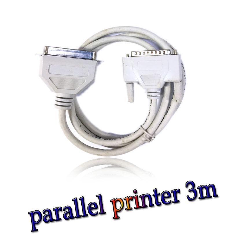 สาย parallel printer cable ยาว 3m -Gray