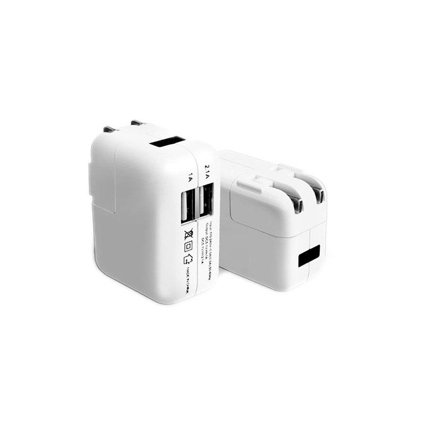 Adapterที่ชาร์จ ipad iphone Smartphone usb 2ช่อง มีไฟ