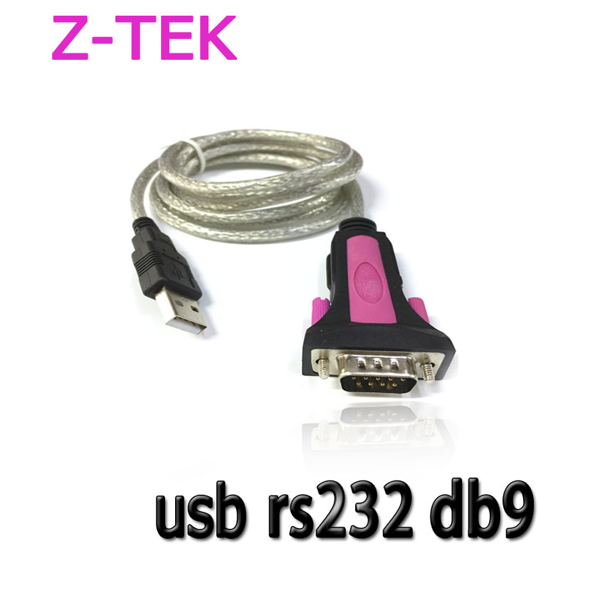 ZTEK usb 2.0 to RS232 9p converter cable 1.8m
