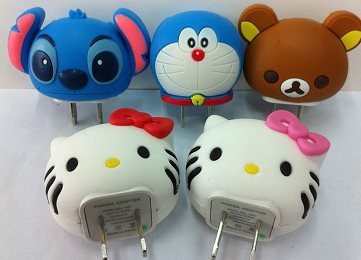 หัวปลั๊กชาร์ตโทรศัพท์ลายการ์ตูน adapter charger iphone